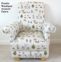 Sophie Allport Dinosaurs Fabric Childs Chair Grey Armchair Kids Boys Green T-Rex
