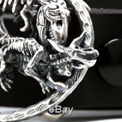 Sterling Silver Dinosaur Triceratops T-Rex Tyrannosaurus Belt Buckle Accessories