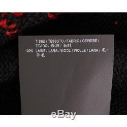 Sz XS NEW $990 SAINT LAURENT Black MENS T-REX DINOSAUR Wool Knit SWEATER TOP