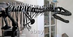 TYRANNOSAURUS REX Dinosaur MOUNTED T REX Skeleton Fossil Replica 12 feet long