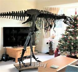 TYRANNOSAURUS REX Dinosaur MOUNTED T REX Skeleton Fossil Replica LIFE SIZE