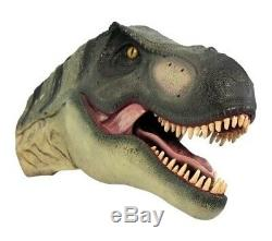 T-Rex Definitive Dinosaur Mouth Open Head Wall Display Resin Prop Decor Statue