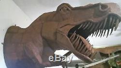 T-Rex Dinosaur Metal sculpture famous artist Ricardo Breceda, Wall Mount Prop