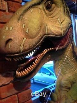 T-Rex Dinosaur Wall Decor Resin Statue Jurassic World Theme Prop Display Kids