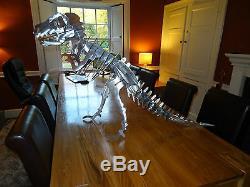 T-Rex Tyrannosaurus Large Metal steel dinosaur kit/model/ornament/garden/puzzle