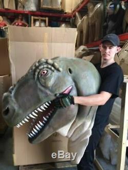 T-Rex Wall Mount Jumbo Dino Head Life Size Statue Dinosaur Display Prop