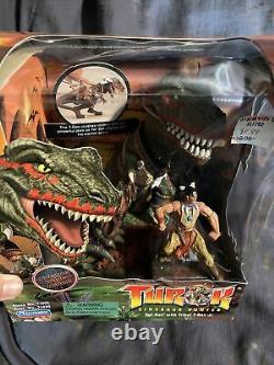 Turok Dinosaur Hunter Tal Set with Tribal T-Rex Jr. Playmates