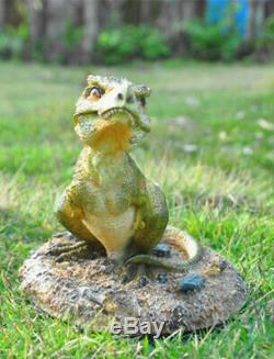 Tyrannosaurus Baby T Rex Statue Figure Dinosaur Model Base Decor Collector Gift
