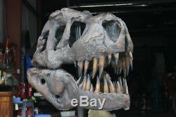 Tyrannosaurus T-Rex Skull GIANT BRONZE ART Fossil Model Dinosaur LIFE SIZE