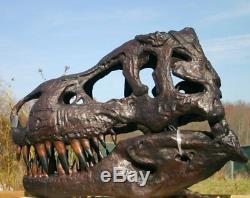 Tyrannosaurus T-Rex Skull GIANT BRONZE ART Fossil Model Dinosaur LIFE SIZE SPECI