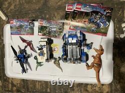 USED Lego LOT Jurassic 75918 75917 75915 T Rex Tracker Raptor Pteranodon READ