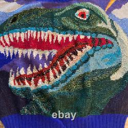 Vintage 1980s Krizia Maglia Italian T-Rex Sweater NEW CONDITION WITH TAGS