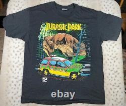 Vintage 90s Jurassic Park T Rex Movie Shirt Size XL 1993 Universal Studios