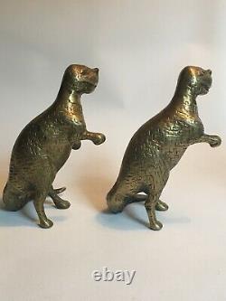 Vintage Brass Dinosaur Pair T-Rex