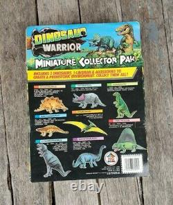 Vintage HG Toys Dinosaur Warrior T Rex Caveman Prehistoric Miniature Playset