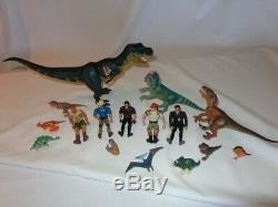 Vintage Jurassic Park Lot 16 Dinosaurs and Action Figures T-Rex Kenner