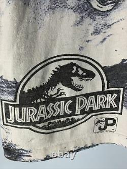 Vintage Jurassic Park Shirt Mens Sz L Crash McCreery T-Rex Single Stitch 1993