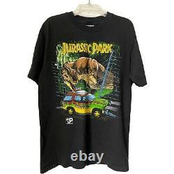 Vintage Jurassic Park T Rex Movie Promo Shirt Size Medium 1993 Single Stitch Tee