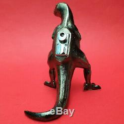 Vintage Metal T-Rex Dinosaur Table Top Lighter Japan (Rare)