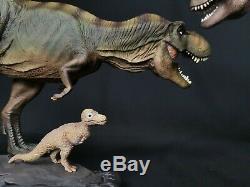 W-Dragon Tyrannosaurus Rex + Rexy Dinosaur Statue Animal Toy Small T-Rex Gift