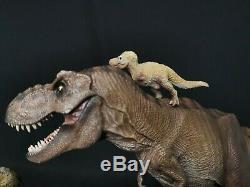 W-Dragon Tyrannosaurus Rex + Rexy Series Dinosaur Statue Small T-Rex Gift Toy