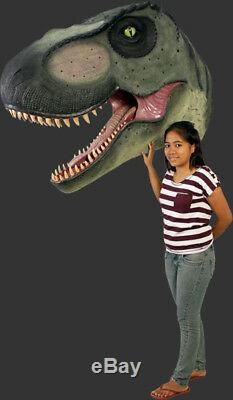 Wall Mounted T Rex Trophy Head Big Jurassic World Style Huge Terra Nova Dinosaur