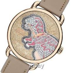 Womens Coach Delancey Rexy Dinosaur/t-rex Leather Band Limited Watch Nib