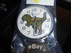 Womens Coach Dinosaur/t-rex Leather Band Limited Watch Nib