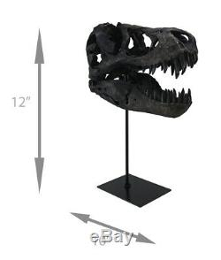Zeckos T-Rex Dinosaur Skull Mounted Tyrannosaurus Rex Fossil Statue