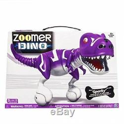 Zoomer Dino Sparky Purple Robotic Dinosaur Toy Interactive T-Rex Robot
